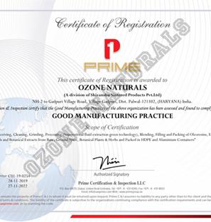 Good Manufacturing Practice - Ozone Naturals